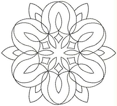 Embroidery Design: QDesign 58A 4.93w X 4.43h