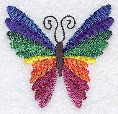 Embroidery Design: Butterfly D 2.46w X 2.34h