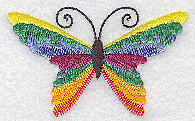 Embroidery Design: Butterfly H 3.11w X 1.90h