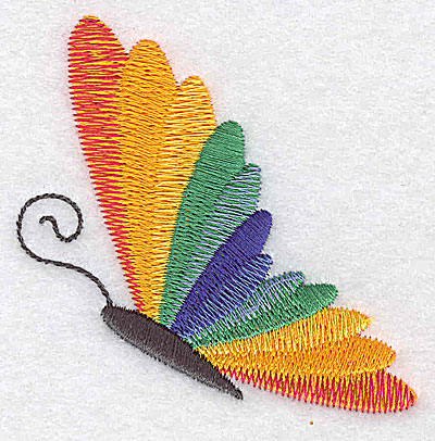 Embroidery Design: Butterfly J 2.71w X 2.68h