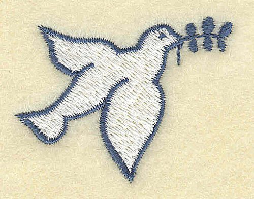 Embroidery Design: Dove with olive branch 2.00w X 1.49h