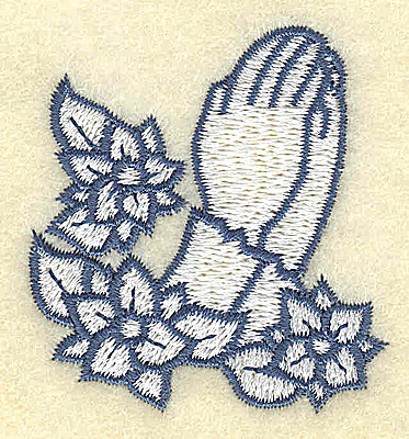 Embroidery Design: Praying hands  1.87w X 2.04h