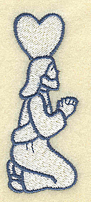 Embroidery Design: Jesus praying 1.28w X 3.13h