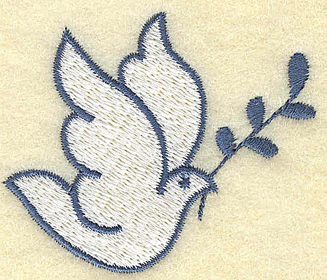 Embroidery Design: Dove with olive branch 2.43w X 2.04h