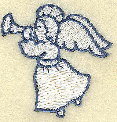 Embroidery Design: Angel with trumpet 2.09w X 2.14h