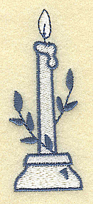 Embroidery Design: Candle with laurel 1.16w X 2.90h