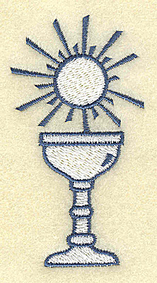 Embroidery Design: Chalice with sun 1.73w X 3.28h