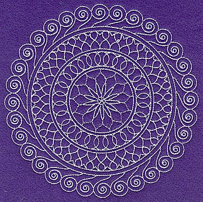 Embroidery Design: Rangoli design A large  6.98w X 6.97h