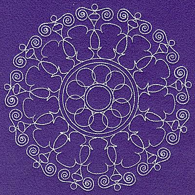 Embroidery Design: Rangoli design B large 6.96w X 6.98h