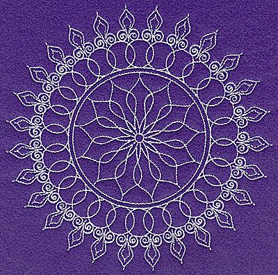 Embroidery Design: Rangoli design C large 6.96w X 6.97h