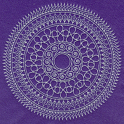 Embroidery Design: Rangoli design D large 6.98w X 6.98h