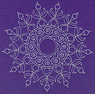 Embroidery Design: Rangoli design E large 6.98w X 6.95h