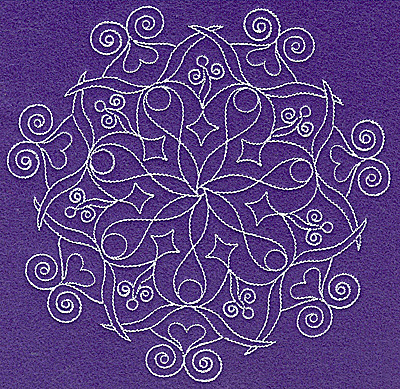 Embroidery Design: Rangoli design F large 4.96w X 6.86h