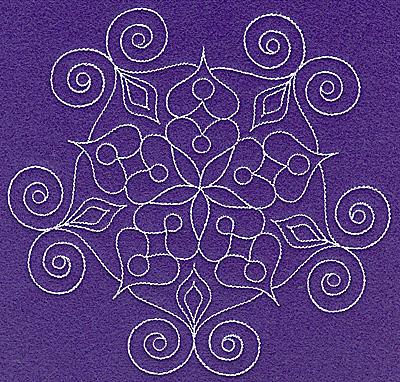 Embroidery Design: Rangoli design G large 6.97w X 6.71h