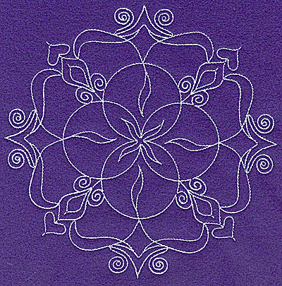 Embroidery Design: Rangoli design L large 6.95w X 6.93h