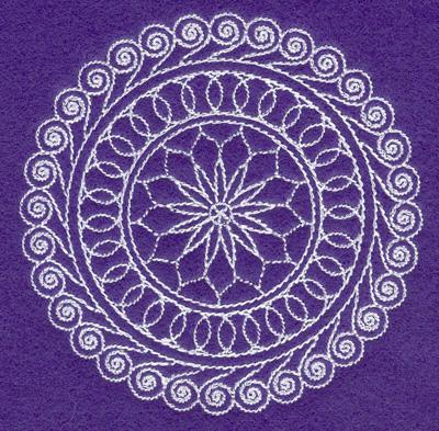 Embroidery Design: Rangoli design M  3.97w X 3.86h