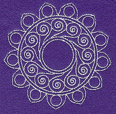 Embroidery Design: Rangoli design O 3.54w X 3.51h