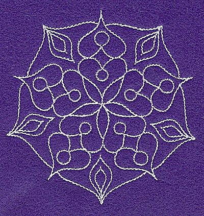 Embroidery Design: Rangoli design P 3.74w X 3.86h