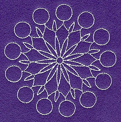 Embroidery Design: Rangoli design Q 3.54w X 3.54h