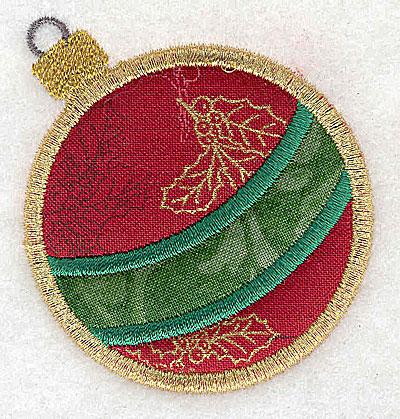 Embroidery Design: Christmas ornament A double applique 2.51w X 2.69h
