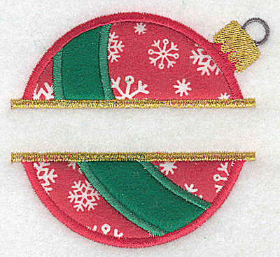 Embroidery Design: Christmas ornament A small double split appliques 3.74w X 3.42h