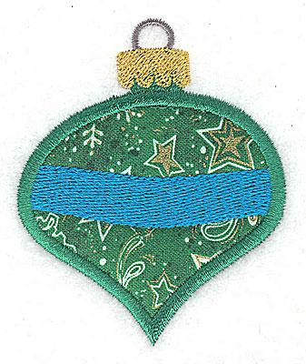 Embroidery Design: Christmas ornament B aplique 2.57w X 3.14h