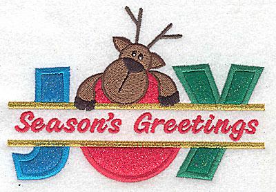 Embroidery Design: Joy Season's Greetings split triple applique 5.27w X 3.62h