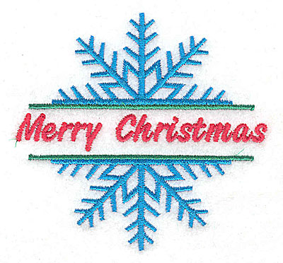 Embroidery Design: Snowflake Merry Christmas large 4.62w X 4.90h
