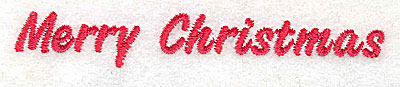 Embroidery Design: Merry Christmas 4.02w X 0.59h