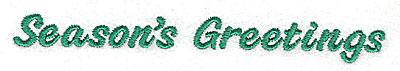 Embroidery Design: Season's Greetings 4.98w X 0.60h