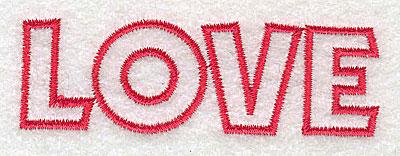 Embroidery Design: Love   3.30w X 1.05h