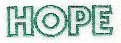 Embroidery Design: Hope    3.40w X 1.05h