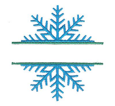 Embroidery Design: Snowflake small split 3.12w X 3.34h