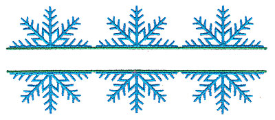 Embroidery Design: Snowflake trio split 6.96w X 2.91h