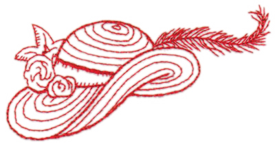 "Embroidery Design: Red Hat4.36"" x 2.47"""