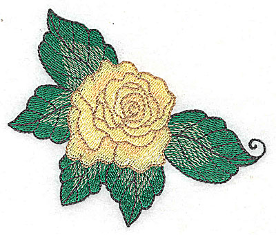 Embroidery Design: Rose D 3.84w X 3.18h