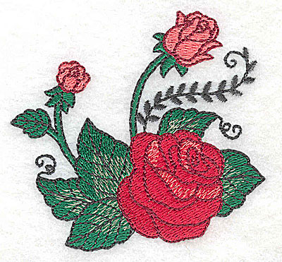 Embroidery Design: Rose E 3.20w X 3.01h