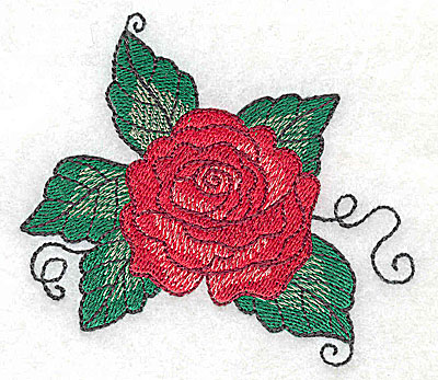Embroidery Design: Rose F 3.51w X 3.04h