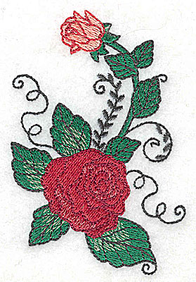 Embroidery Design: Rose J 2.54w X 3.86h