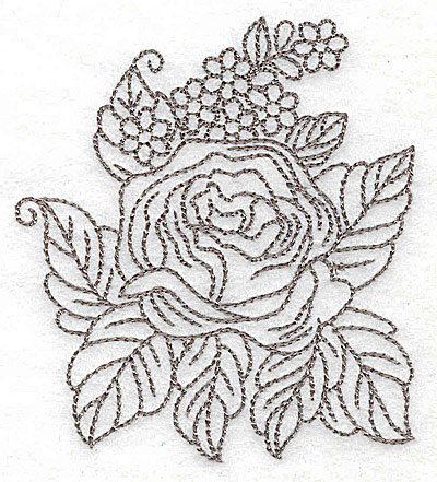 Embroidery Design: Rose F outline 3.20w X 3.50h