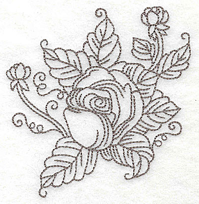 Embroidery Design: Rose G outline 3.86w X 3.78h