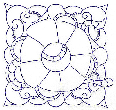 Embroidery Design: Lifebuoy with rope large 6.41w X 6.09h