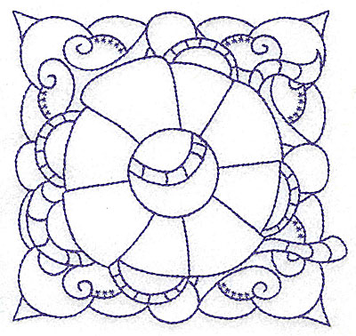 Embroidery Design: Lifebuoy with rope medium 4.94w X 4.69h
