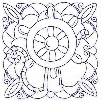 Embroidery Design: Ship's wheel large 6.37w X 6.46h