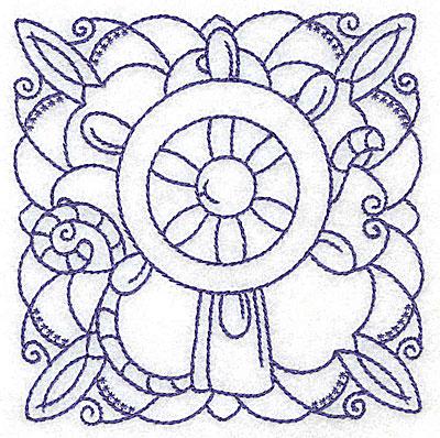 Embroidery Design: Ship's wheel small 3.83w X 3.88h