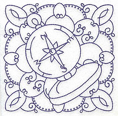 Embroidery Design: Nautical compass medium 4.99w X 4.96h