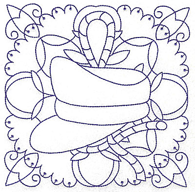 Embroidery Design: Captain's hat large 6.50w X 6.50h