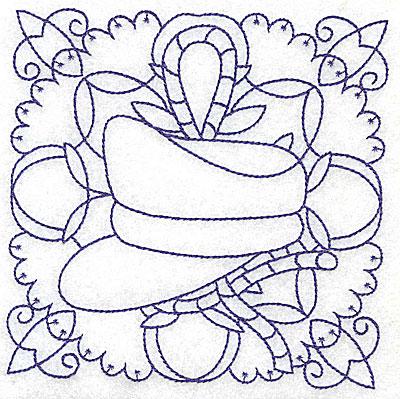 Embroidery Design: Captain's hat medium 4.96w X 4.96h