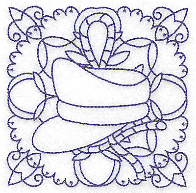 Embroidery Design: Captain's hat small 3.87w X 3.87h