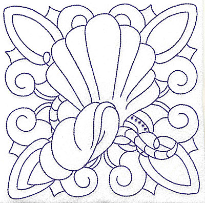 Embroidery Design: Shells large 6.47w X 6.49h